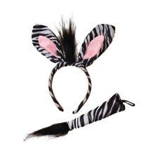 Zebra Ears Alice Hair Band Headband and Tail Set Fancy Dress Party Hen Birthday