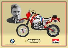 Print on Canvas Marlboro BMW R80 G/S 1985 #101 Gaston Rahier (BEL) Yel. 60 x 40