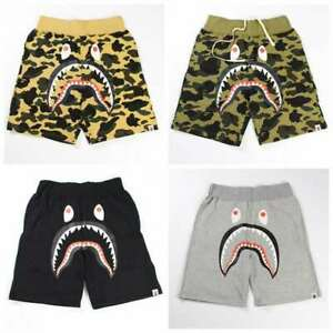 Man summer Men's Short Pant Bape Shark  A Bathing Shorts Ape Jaw  Print
