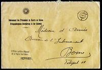 Z0178) Schweiz Dienstbrief POW Internierte Kriegsgefangene Fiesch 27.03.17