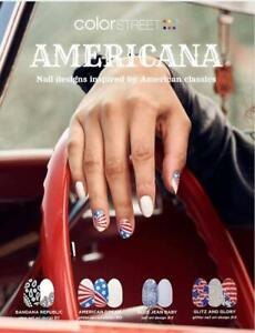 Color Street Nail Strips AMERICANA Collection Red White & Blue Patriotic