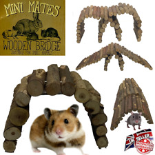 More details for pet small animal toys accessories wooden bendy bridge mouse hamster rat gerbil