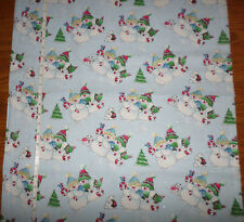 New Christmas SNOWMAN  Cotton Fabric with GLITTER  by Fabric Traditions -    bty