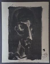 """JAN DARNA (1901/1974) Bois Gravé   """" DON QUICHOTTE  """"  -  Signé"""