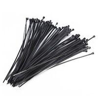 Set 1000pcs 3x100mm Nylon Plastic Zip Wrap Cable Tie Wire Self-Locking GO9