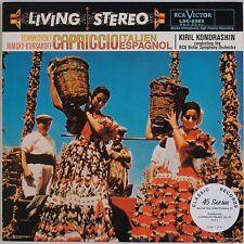 TCHAIKOVSKY: Crapiccio Kondrashin RCA LIVING STEREO  LSC-2323 Classic Records LP