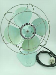Ventilateur calor bivolt vintage vert bleu menthe