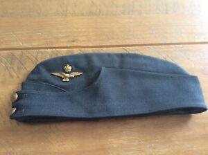 ww2 Original RAF Officers side cap , named inside George h Fox