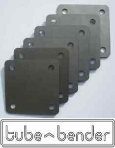 6 (100x100x3mm) Roll Cage Footplates Strengthening, Mounting, Fabrication Steel