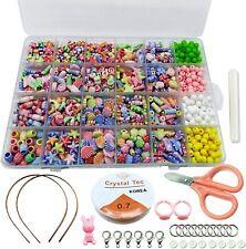 Girls Kids Diy Bracelet Craft Make Own Beads Jewellery Making Set Box Kit Gift