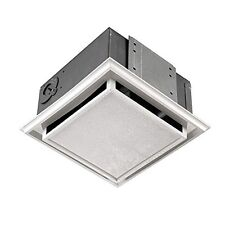 Broan 682 Plastic Grille Duct Free Ventilation Fan with Charcoal Filter White