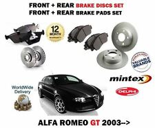 FOR ALFA ROMEO GT 1.8 1.9 2.0 2003--> FRONT + REAR BRAKE DISC SET+ DISC PADS KIT