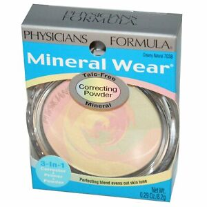 NIB Physicians Formula Mineral Talc-Free Correcting Powder 7038 Creamy Natural