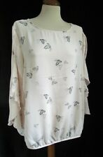 GEORGE Pink Butterfly Tunic Blouse  Size 20