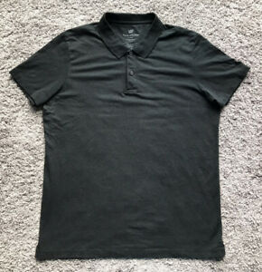 Mack Weldon Black Short Sleeve Polo Shirt Men's Size Large