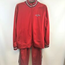 Vintage Tommy Hilfiger Tommy Jeans Tommy Sport Red Polyester Track Suit XL/L
