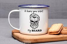 Birthday Gift For Him, Beard Gift, Enamel Mug Gift