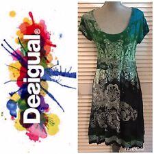Desigual Printed Trapeze Short Sleeve Dress Small