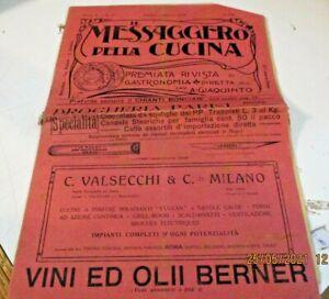 IL MESSAGGERO DELLA CUCINA anno V n. 15 - ROMA, 1 AGOSTO 1907