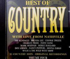 The Best Of Country - Vol 4 (CD 1994)Patsy Cline,Brenda Lee,Kendalls,Pride