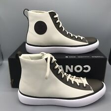 Converse Chuck Taylor All Star Modern Hi Top Cream Black White Shoes 156617C Sz