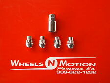 12x1.5MM  wheel Locks  set of 4 with 1 key chrome