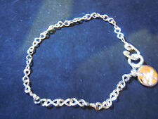 """NEW 7.5"""" PURE SILVER .999  INFINITY LINK BRACELET HAND MADE BY ANARCHY JEWELRY V"""