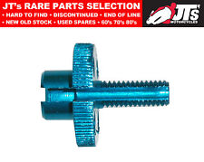 Cable Adjuster for handlebar lever clamp - Alloy Blue 8mm thread 814972