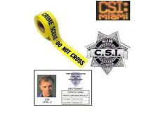 Les experts Miami Lot carte ecusson bande police CSI miami identification lot