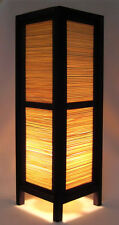 ASIAN HOME DECOR TABLE / FLOOR LAMPS BEDROOM LIGHTING - *BAMBOO WOOD BLIND*