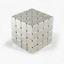 "64pcs 3/8"" x 3/8"" x 3/8"" Cube 10x10x10mm Neodymium Magnet Neo Rare Earth N35"