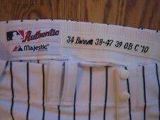 A.J. Burnett Yankees 2010 Game Used Worn Home Pinstripe Pants