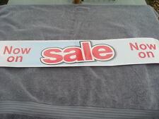 Vente signes poster horizontal bannière self accrocher Vinyle Réutilisable Rouge