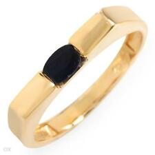 QUALITY SOLID 10K YELLOW GOLD GENUINE SAPPHIRE RING 6.5