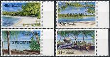 Tuvalu 1994 SG#694-7 Island Scenery Optd Specimen MNH Set #A86195
