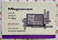 Mid Century Magnavox Gaytime Clock Radio Space Age Model C-3 Operating Manual
