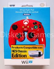 Nintendo oficial autorizado PDP Wii u Mario Fight pad mando