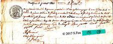Billet a Ordre bon au porteur manuscrit timbre royal sec& humide 1841 lot 28
