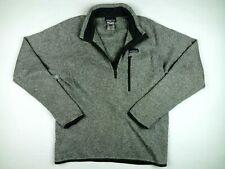 Men's Patagonia Better Sweater 1/2 Zip Knit Jumper Sweatshirt - Medium - Grey