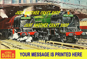 Hornby Dublo 1959 Royal Scot A3 Size Custom Poster printed with your message