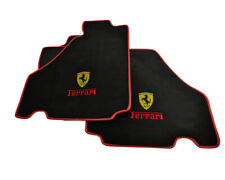 Floor Mats For Ferrari F430 2004-2009 Tailored Carpets With Emblem & Red Rounds
