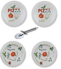 Retsch Arzberg - Pizzateller mit Pizzaschneider - Ø30cm (4er Set mit Dekor)