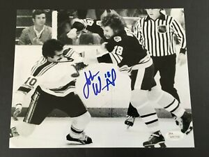 JOHN WENSINK AUTOGRAPHED 8 X 10 FIGHTING PHOTO  J.S.A. AUTHENTICATED