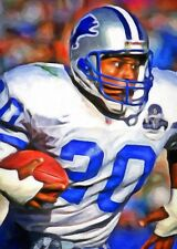 Barry Sanders Limited Edition Art Card 1 of 49  ACEO HOF Detroit Lions