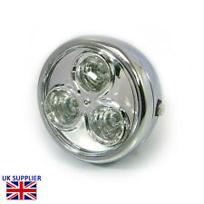 "Headlight for Ducati Monster S2R S4R Custom Project Bike Chrome Steel 6 3/4"" LED"