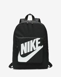 NIKE Classic BACKPACK School BAG Gym UNISEX Mini BLACK WHITE BA5928-010 NWT