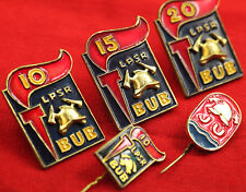 Soviet Latvia 10-15-20 years in fire service Firefighter´s Fireman Badges SET