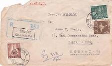 cover India Diujhampa 1969 registered  to Santa-Cruz