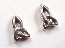 Sterling Silver Corona Sun Jewelry post Curve Trinity Knot Stud Earrings 925