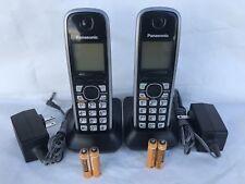 2 Panasonic KX-TGA410B  Cordless Handset for KX-TG7622, KX-TG7623, KX-TG7624SK